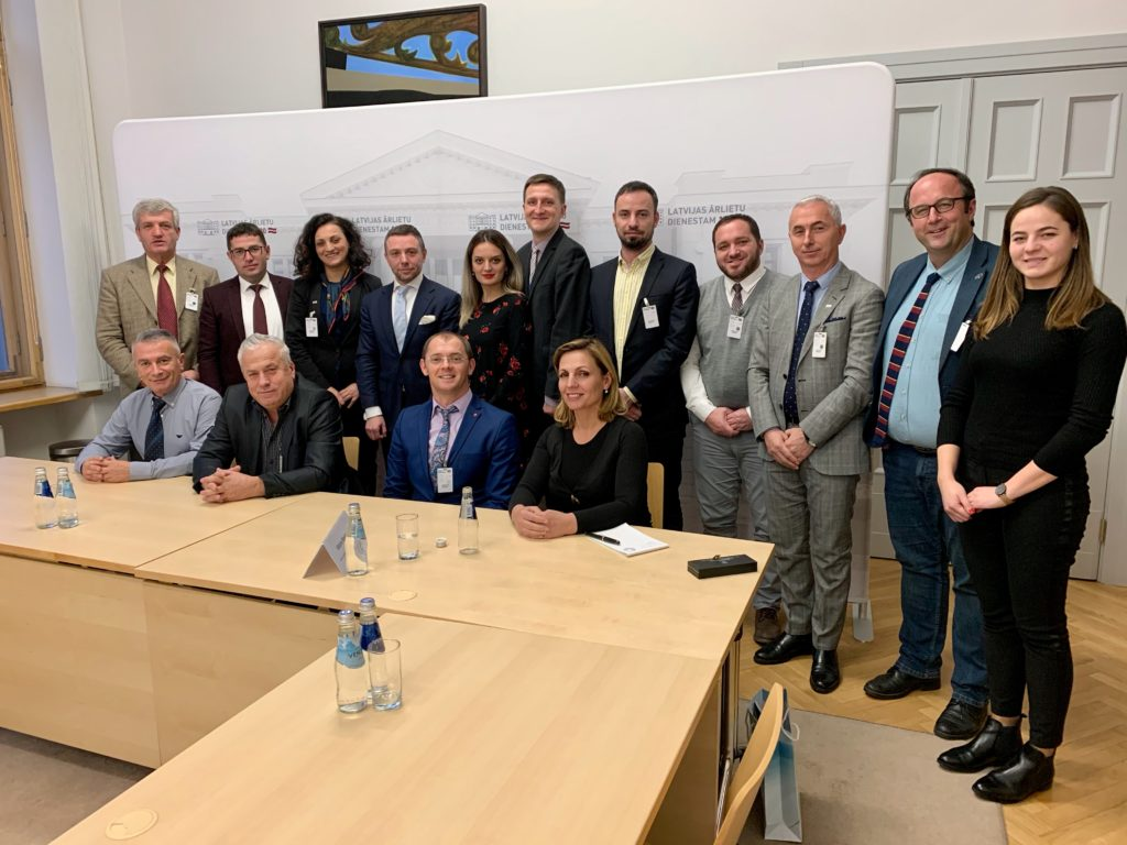 Kosovo communication specialist delegation study visit to Latvia.